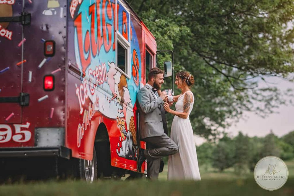 LeRoy Country Club Ice Cream Truck Wedding NY Luigis