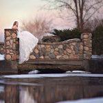 Bride at Jerris Wadworth Wedding Barn Caledonia, NY
