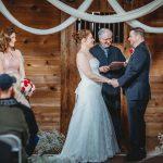 Wedding Ceremony at Cobblestone Wedding Barn, Scottsville, NY
