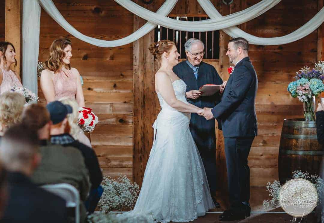 Wedding Ceremony at Cobblestone Wedding Barn, Scottsville, NY