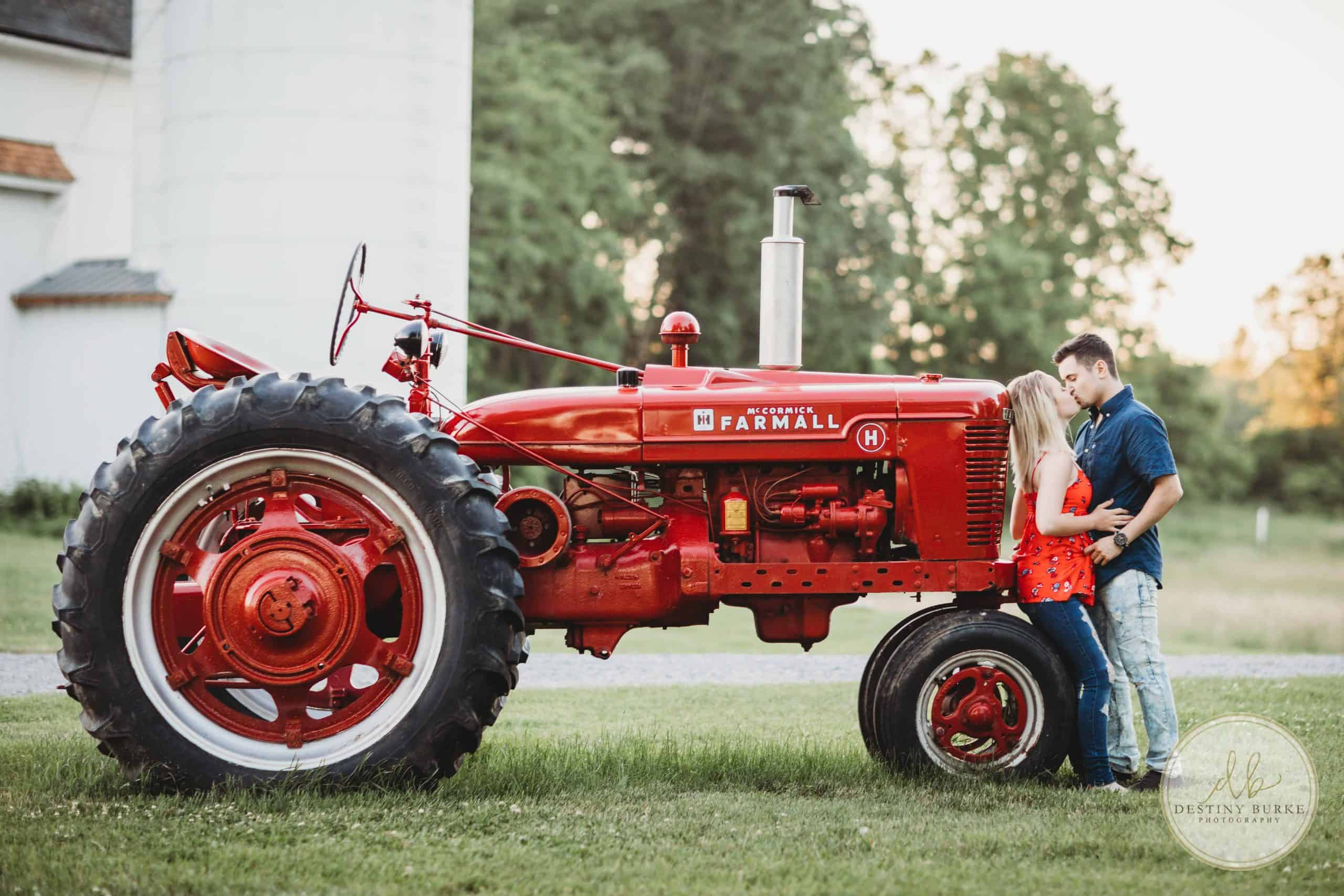 Tractor, Engagement, Session, Couple, Rochester, NY